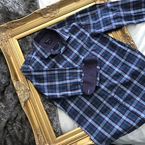 Bugatchi Button Up Long Sleeved Shirt (Shaped Fit)